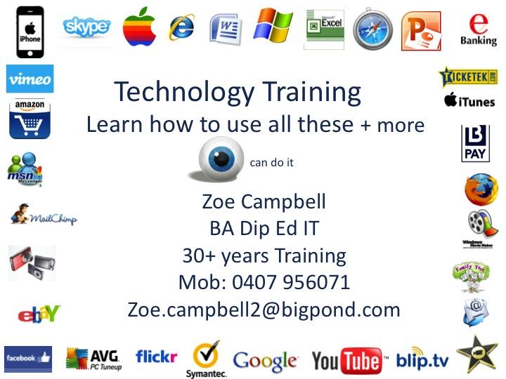 Zoe flyer logos